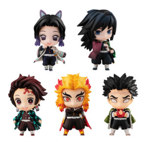 Pré-Venda – Demon Slayer: Kimetsu no Yaiba Tanjiro and the Pillars Mascot Set A (5 peças).